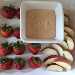 Peanut Butter & Yogurt Fruit Dip
